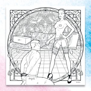 LoveBox colouring book page