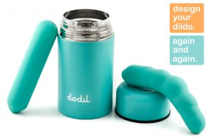 Dodil sex toy with flask, interview with erotic marketing agency, Lascivious Marketing [credit: Dodil]