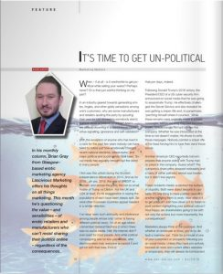 Brian Gray from erotic marketing agency Lascivious Marketing marketing column in EAN publication March 2018 text (c) Brian Gray design image (c) EAN