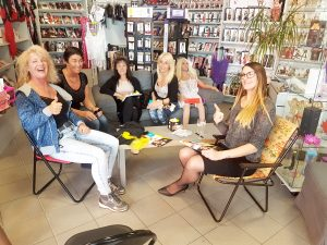 Eva Lerbs from pjur group visiting erotic store, interview with erotic marketing Lascivious Marketing [credit: pjur group Luxembourg S.A.]
